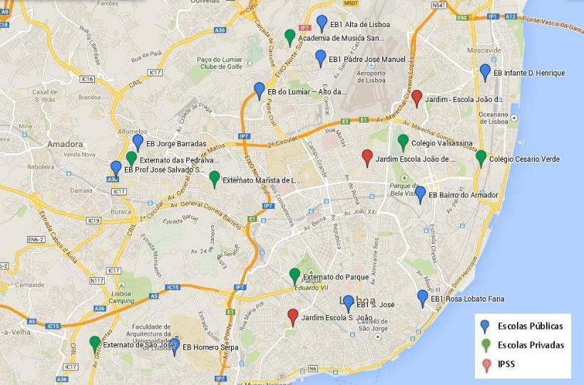 mapa escolas lisboa Escola Mais   Escolas mapa escolas lisboa